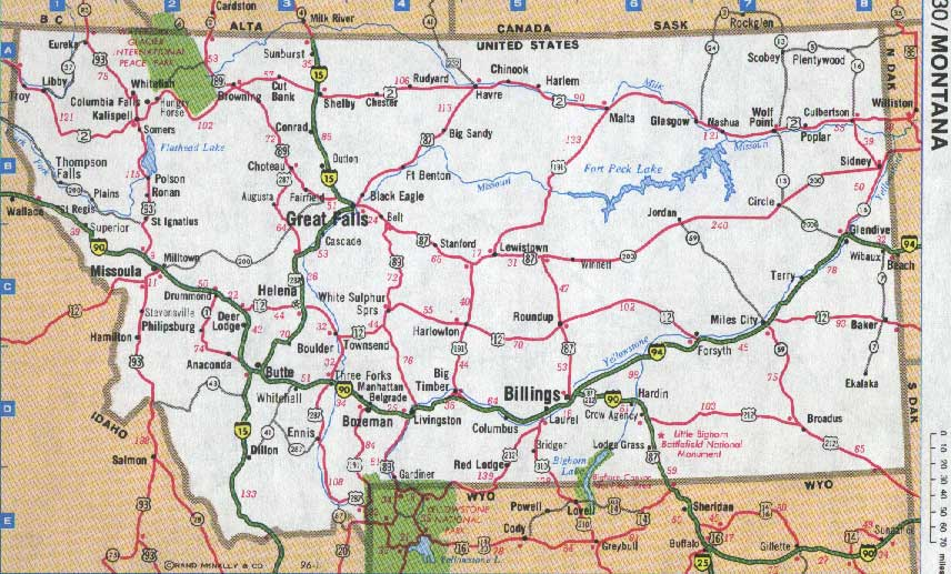 Maps For Montana North Dakota Wyoming South Dakota Idaho And - Mt map