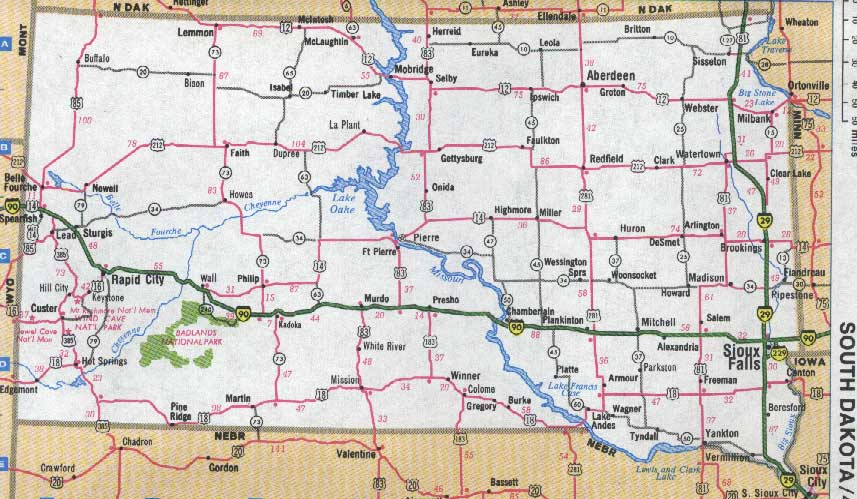 Maps For Montana North Dakota Wyoming South Dakota Idaho And - Sd maps