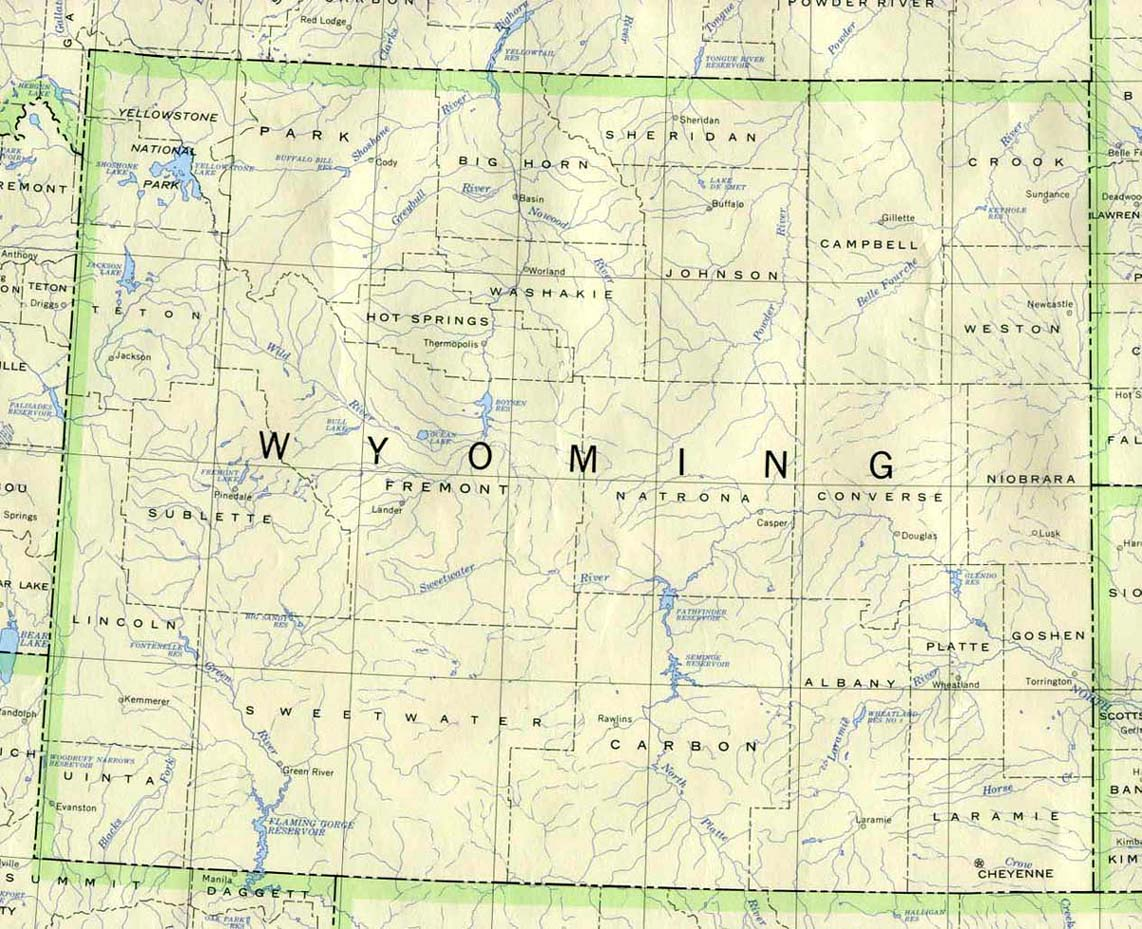 Maps for Montana, North Dakota, Wyoming, South Dakota, Idaho and Canada